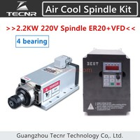 High Quality Ceramic Bearings 2 2kw 220V Air Cooled Spindle Motor ER20 And 2 2KW VFD