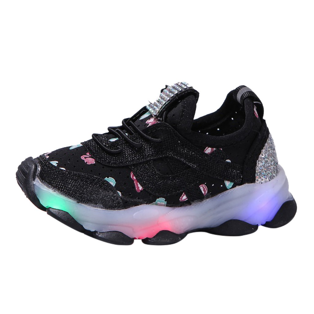 Sport-Shoes Trainers Running-Sneakers Baby-Boys-Girls Kids Fashion Child Casual LED Light-Up
