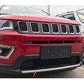 YAQUICKA Chrom ABS Auto Kühlergrill Grill Unten Stoßstange Protektoren Abdeckung Streifen Styling Trim Zubehör Für Jeep Kompass 2017  18|Chrom-Styling|   -