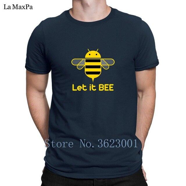 61157b809 € 14.1 |Crear famosa camiseta para hombre Let It Bee camiseta para hombre  más tamaño verano estilo hombres camiseta única camiseta clásica ...
