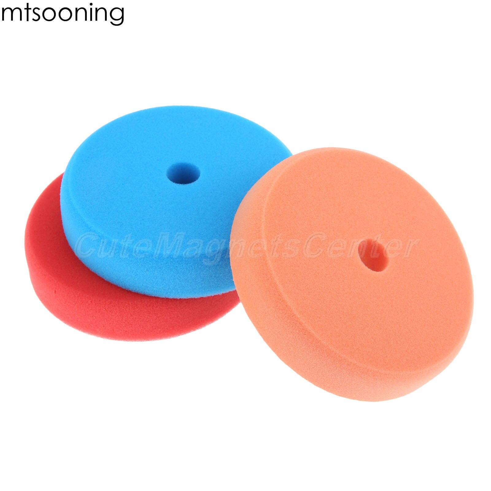 mtsooning 6 150mm composto almofadas de polimento buffer polimento conjuntos para da ro dupla acao polidor