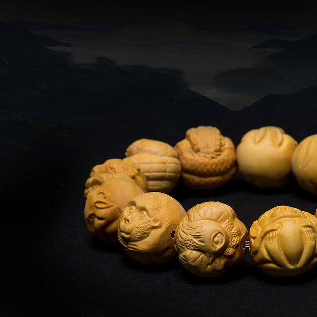 Two circling fish hand carved boxwood ojime bead great for etsy
