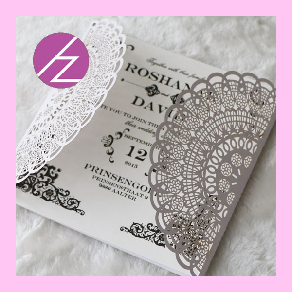 Hot sell new wedding invitation cards handmade wedding cards free
