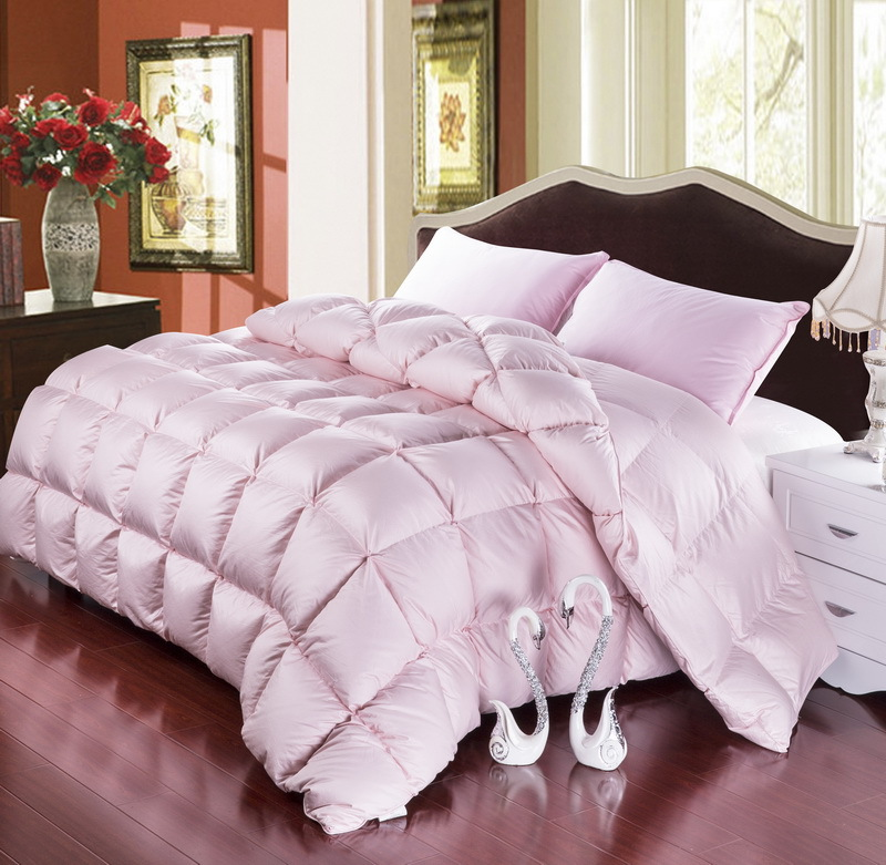 grade a natural 95 goose down comforter twin queen king size 750fp quilt hypo allergenic bedroom fluffy cozy warm white pink