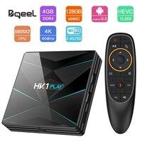 Bqeel части ТВ коробка 4K Android 9,0 Amlogic S905X2 4 ядра ARM проигрыватель Google DDR4 4G 128G 2,4G/5G, Wi-Fi, Декодер каналов кабельного телевидения ТВ приемник