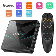 CAIXA de TV Samrt Bqeel S905X2 4 K 3D Android 9.0 Amlogic Quad Core ARM Google Jogador 4G 64G 128G 2.4G/5G Wifi Set Top Box Receptor de TV(China)