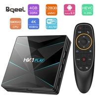 Bqeel Samrt TV BOX 4K Android 9.0 Amlogic S905X2 Quad Core ARM Google Player DDR4 4G 128G 2.4G/5G Wifi Set Top Box Android TV