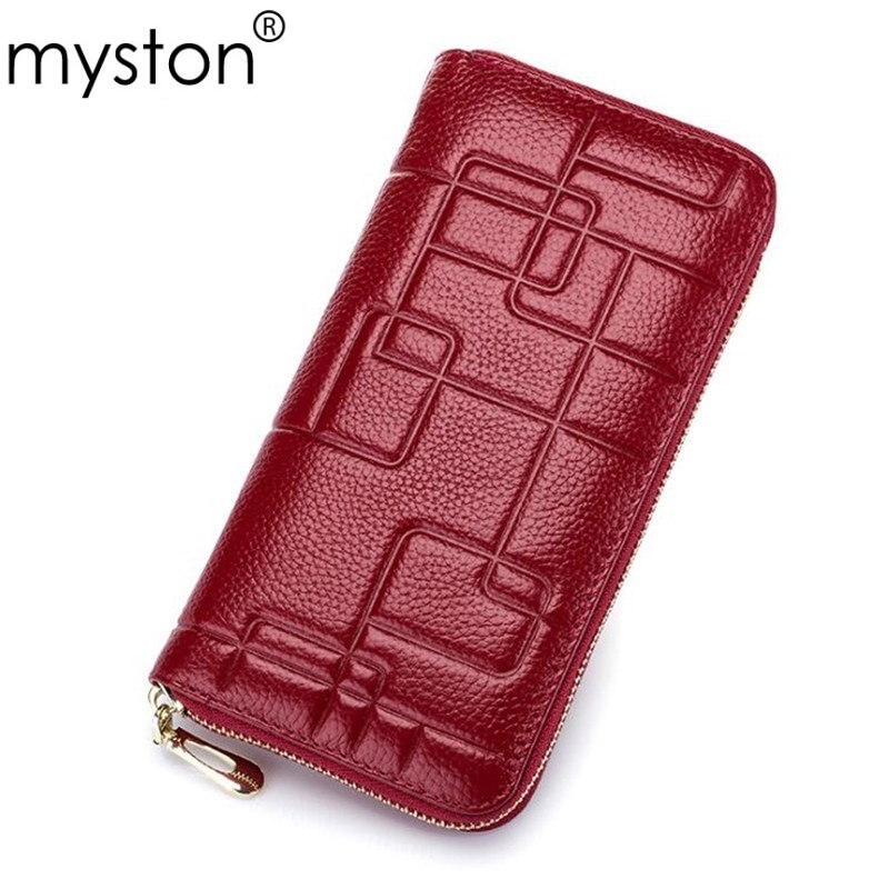 Fashion Genuine Leather Women Wallet Female Long Coin Purses 2017 New Lady Clutch Rfid Money Bag Wallet Handy Perse Coin Purse new design fashion leather women lady purse long burgundy wine red coin case cell mobile iphone handy clutch bag wallet quality