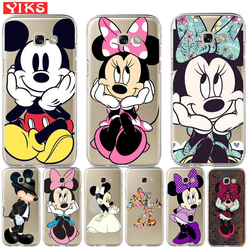 Mickey Minnie Cartoon Case For Coque Samsung Galaxy J3 J5 J7 A3 A5 A7 A8 2017 2016 2015 2018 Phone Back Cover