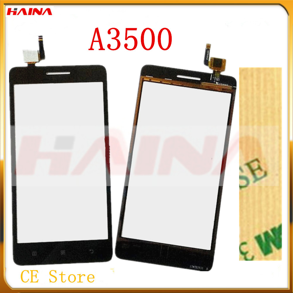 4.5small glas With Tape Touch Screen For <font><b>Lenovo</b></font> <font><b>A3500</b></font> 3500 Touch Panel Digitizer Front Glass Lens <font><b>Touchscreen</b></font> Sensor Replacement image
