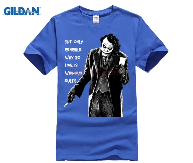 f631280016 US $9.71 19% OFF|2018 Latest Loose Fit Mens The Joker Quote T shirts Custom  Printed Short Sleeves Cotton Graphic Summer Cool T Shirts-in T-Shirts from  ...