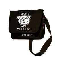 MeanCat Sac Manga Japonais Pop Team Epic Messenger Cross body Bags POP TEAM EPIC Collection Sling Bag for School Shopping