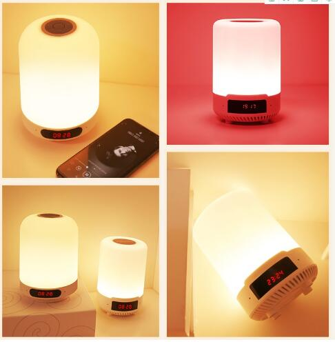 Image 5 - Kuliai night light with bluetooth speaker, portable wireless bluetooth speaker SHAVA touch control color LED night light-in Portable Speakers from Consumer Electronics