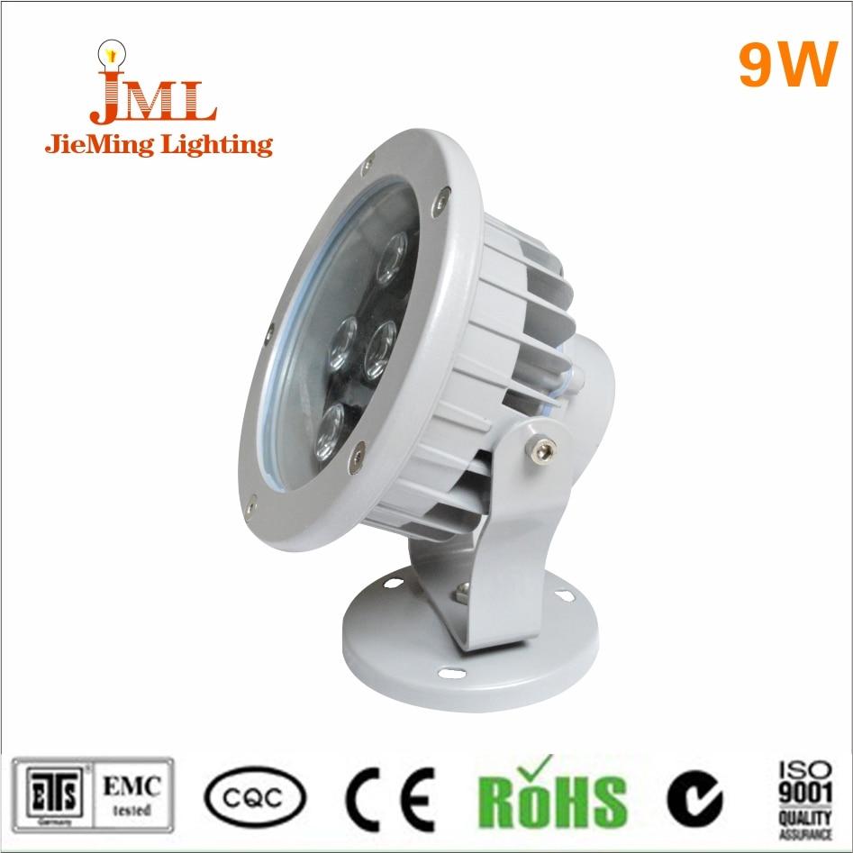 2017 Factory direct price LED floodlight IP67 waterproof 9w 12v DC24V AC100-240V led rgb dmx plant spotlight