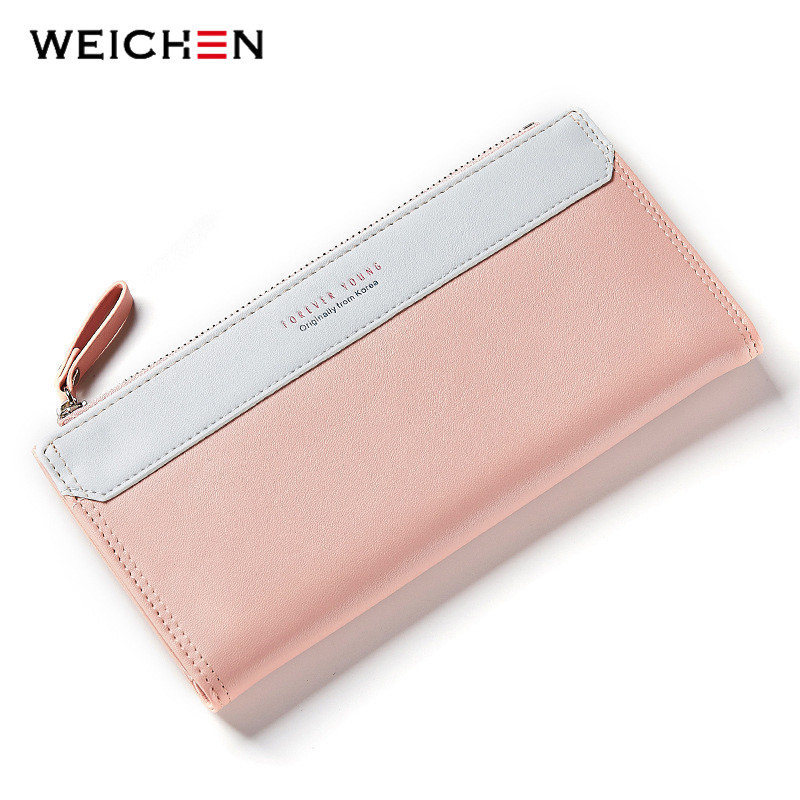 где купить WEICHEN Lady Women Long Wallets Female Clutch Wallet Phone Coin Pocket Ladies Purse Women's Purses PU Leather Zipper&Hasp Bag по лучшей цене