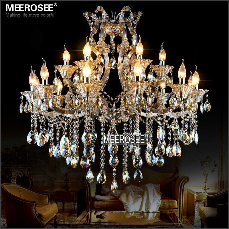 Maria Theresa Cristal Candelabru Lumină de coniac LED Lustru de - Iluminatul interior - Fotografie 1