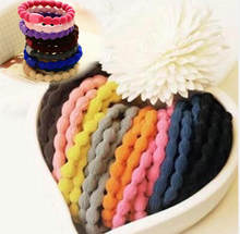 5pcs Women Fashion Candy Color Rubber Hair Bands Elastic Hair Ties Silicone Hairband Scrunchies Bracelet Girls Hair Accessories(China)