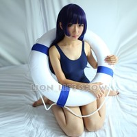 SUKUMIZU summer Sexy one piece Cosplay Japanese School Swimsuit Swimwear Blue&White&Transparent