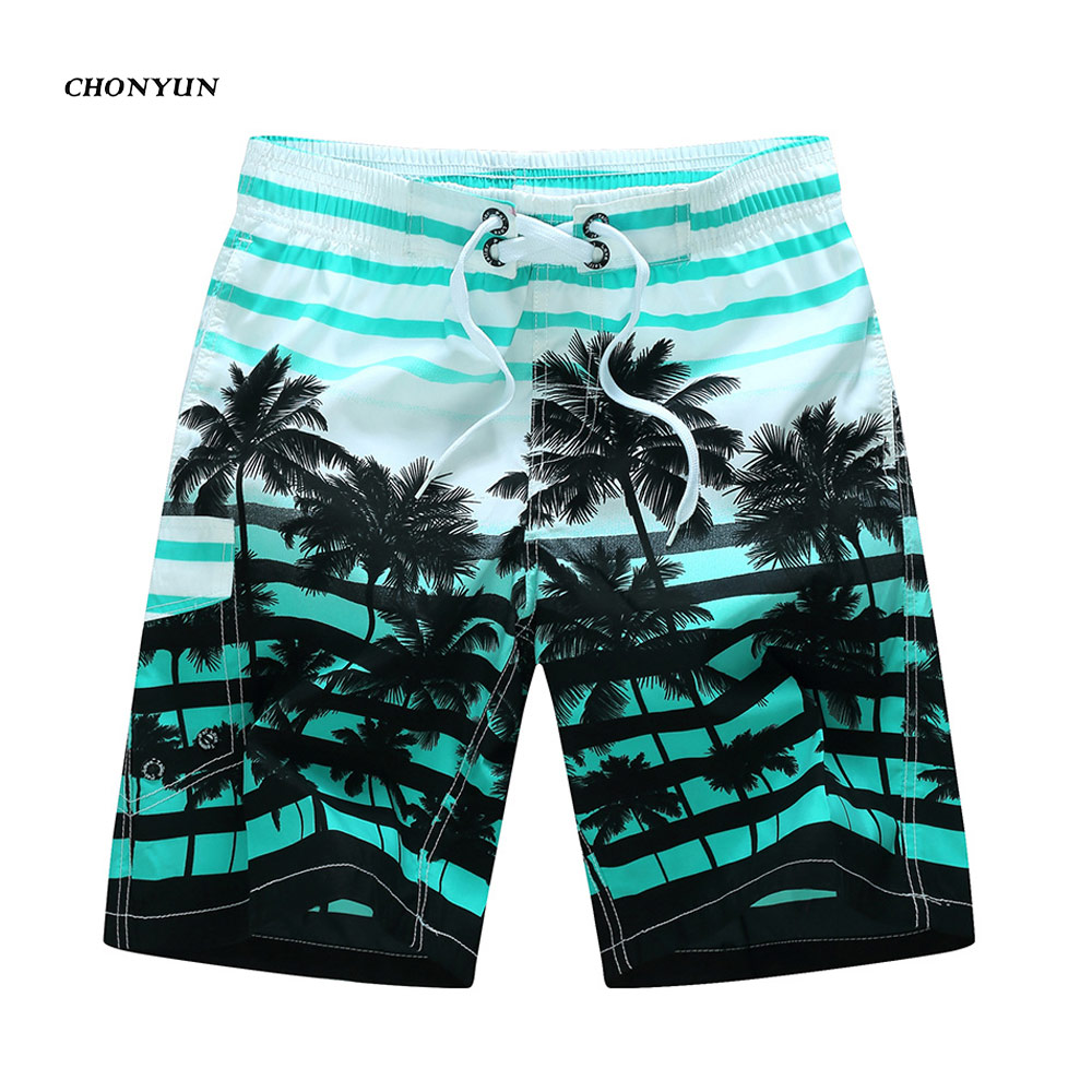 2019 Brand New Arrivied Summer Hot Men Surfing Beach   Shorts   Men Quick Dry Printing   Board     Shorts   Swim Breathable Men's Clothing