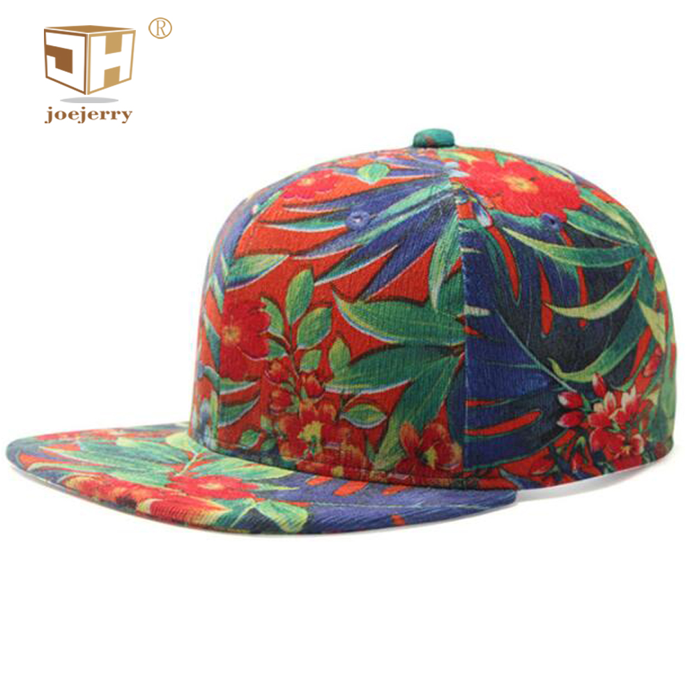 76ae699fa26 joejerry Hip Hop Cap Outdoor Floral Branded Baseball Cap Female 2018 3D  Printing Rap Cap For