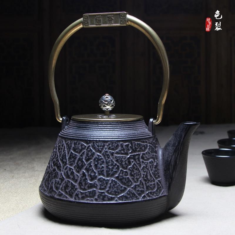 Cracked copper Cast iron pot Tea kettle 1300 mlCracked copper Cast iron pot Tea kettle 1300 ml