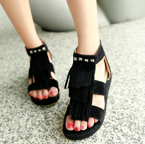 Europe and the United States the new Roman sandals big yards thick bottom national Sue shoes casual shoes large wedge heel shoes scarlett sc vc80c04 пылесос
