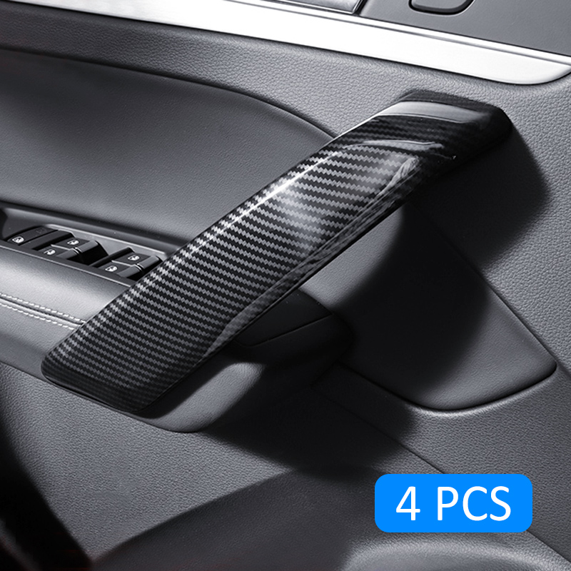 For Audi Q5 2017 2019 Carbon Interior Fiber Door Handle