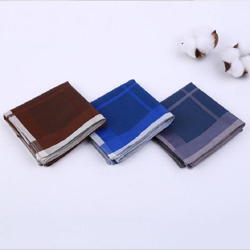 12 PCS 43 * 43 Cm Men Combed Cotton Handkerchief Cotton Quality Soft Handkerchief