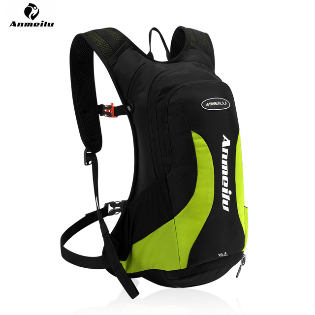 ae331c941875 ANMEILU 10L Cycling Backpack Nylon Outdoor Hiking Camping Hydration Pack  Water Bags Waterproof Bicycle Rucksack+Rain Cover