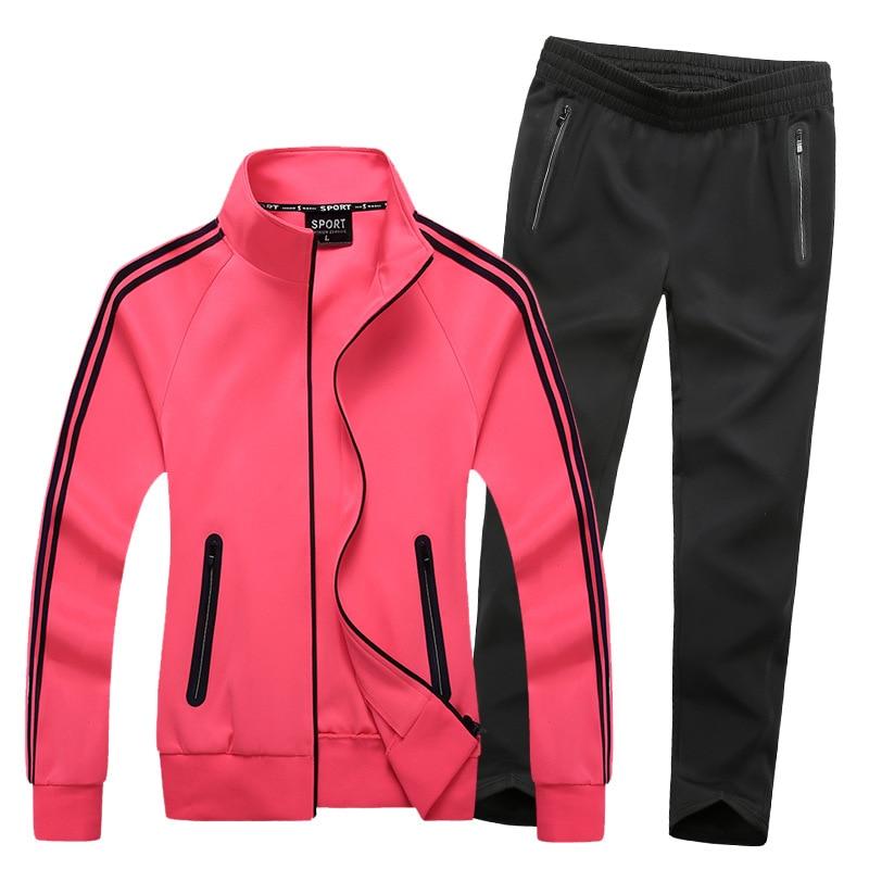Women Sportswear Tracksuit Zipper Sport Jacket Sweater Sweatshirt+pants Female Running Jogging Leisure Set Sport Suit plus size цена 2017