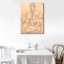 цена на Pablo Picasso Portrait Of Igor Stravinsky Canvas Posters Prints Wall Art Oil Painting Decorative Picture Modern Home Decoration
