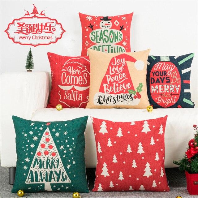 Buon Natale Festival di stile cuscino caso della copertura del cuscino felice an