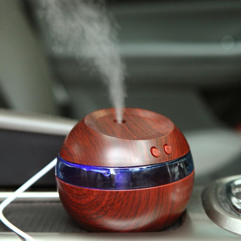 290ml Air Humidifier 30ml/h Wooden grain USB Ultrasonic Air Diffuser Purifier Atomizer Essential oil diffuser for personal care