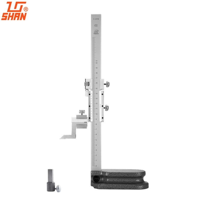 SHAN Vernier Height Caliper 0-200mm Height Gauge Height Caliper Measuring Tools engineers 200mm height measuring caliper carbide scratcher scriber