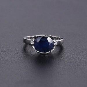Image 4 - GEMS בלט טבעי כחול ספיר חן טבעת תכשיטי עגילי סט לנשים 925 סטרלינג כסף Gorgeou אירוסין תכשיטים