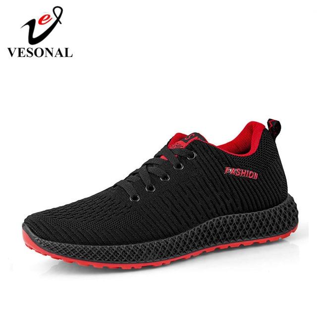 VESONAL מותג 2019 חדש קל משקל נוח רשת גברים נעליים מזדמנים לנשימה הליכה זכר סניקרס Tenis Feminino Zapatos