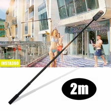 2m כף יד להארכה מוט חדרגל + גדול יציב חצובה עבור Insta360 אחד R אחד X פנורמי Selfie מקל 360 אביזרי מצלמה