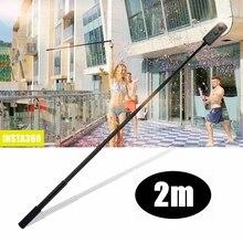 2m ręczny wysuwany Monopod + duży stabilny statyw do Insta360 ONE R One X panoramiczny Selfie Stick 360 akcesoria do aparatu