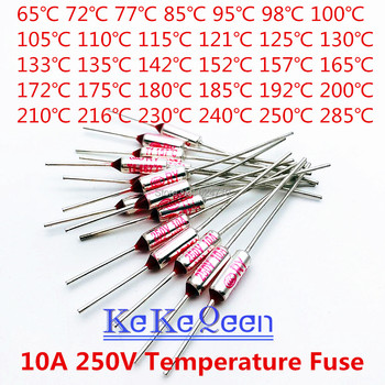 10PCS TF RY-121 RY-125 RY-130 RY-133 RY-135 RY-142 RY-152 RY-157 RY-165 RY-172 ... degree 250V 10A Metal shell Temperature Fuse