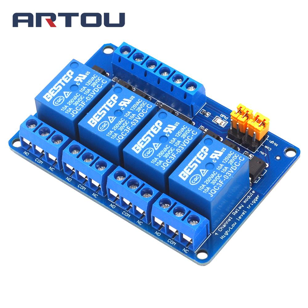 3.3V 4 Channel Relay Module High and low Level Trigger Dual Optocoupler Isolation 3.3V Relay Module3.3V 4 Channel Relay Module High and low Level Trigger Dual Optocoupler Isolation 3.3V Relay Module