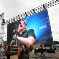 96x96 dots Outdoor P6mm Waterproof 576x576mm Cabinet Led Video Wall LED Panels Screen Display For Outside