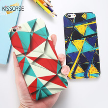 KISSCASE Geometry Pattern Cases For iPhone 6 6s 7 8 Plus Case For iPhone X XS Max XR 5S SE 5 Colorful Patterned Cover Funda kisscase shockproof armor cases for iphone 6 6s 7 8 plus xs case for iphone x 5 5s se xs xs max xr finger ring holder case funda