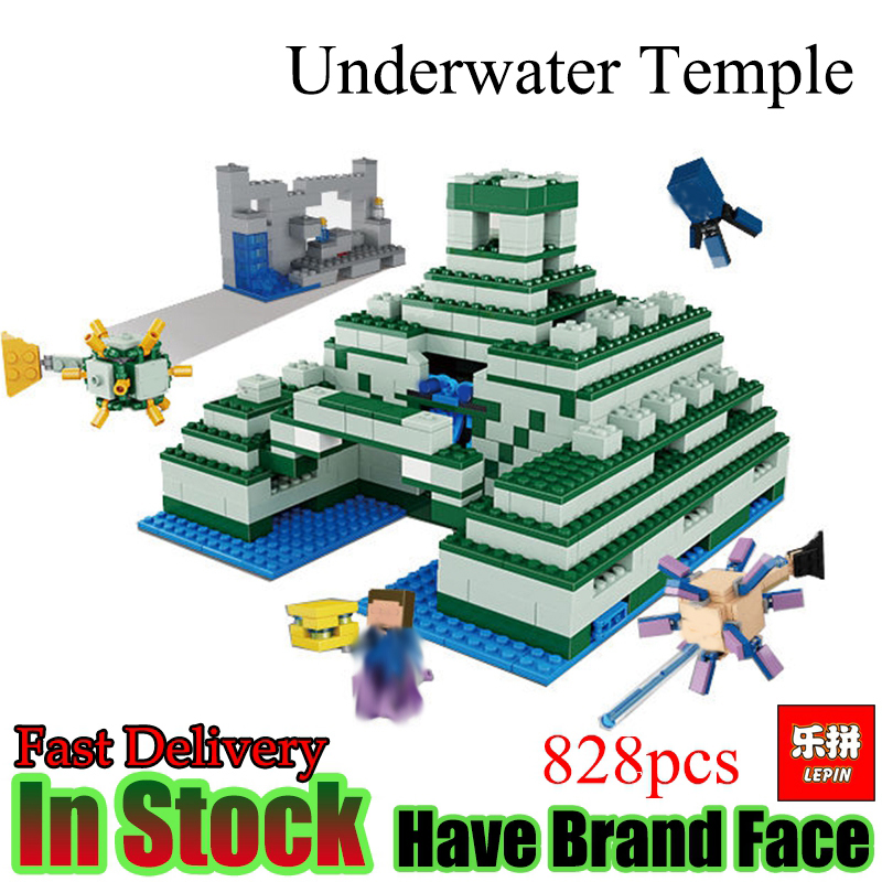 Lepin 18029 Minecraft 828pcs The Underwater Model action anime figures My World Building Block Bricks fun Toys For Children gift