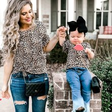 Family Outfits Clothes Mother Daughter Kids Matching T-shirt