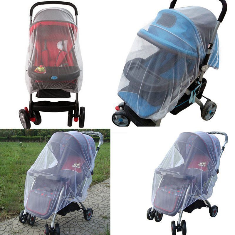 PUDCOCO US Stock Hot Mosquito Fly Insect Net Netting For Newborn Baby Stroller Pushchair Buggy Safe Mesh