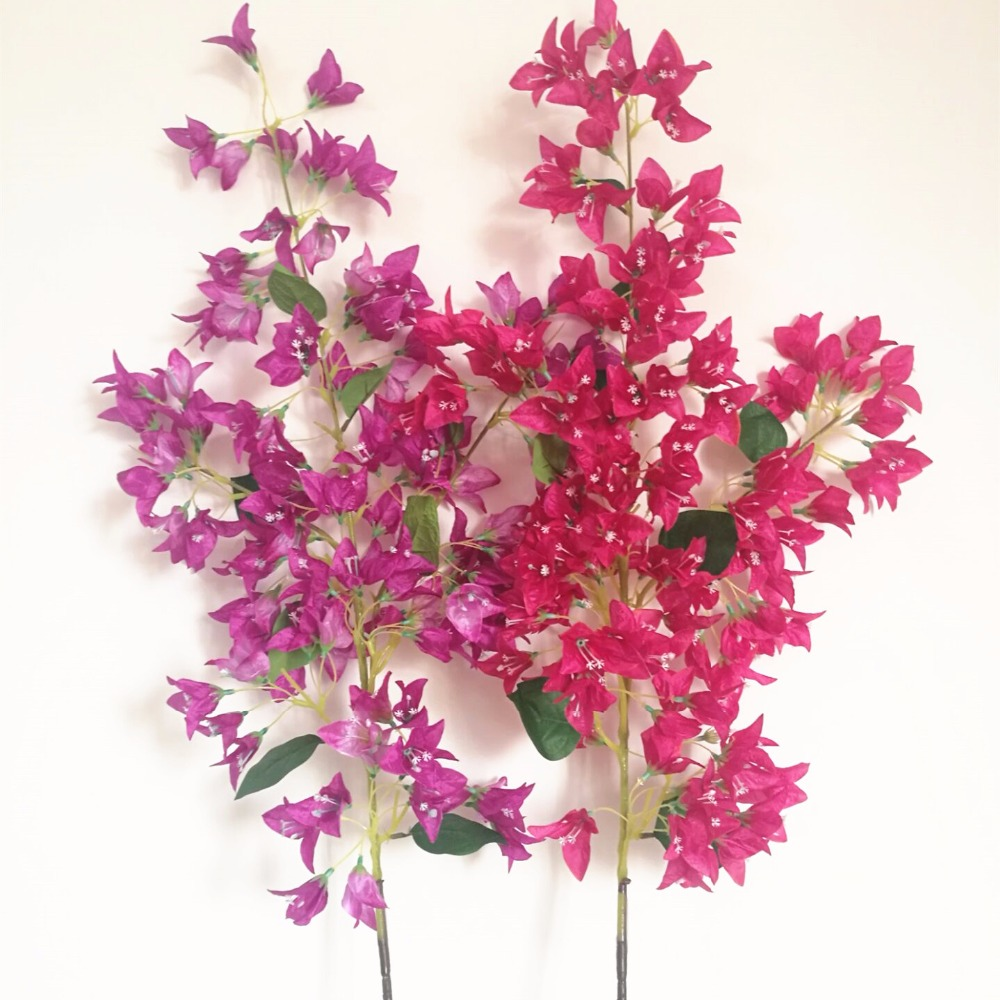 20pcs Bougainvillea Tree Stem Fake Bougainvillea Branch Hot Pink Fuchsia For Wedding Centerpieces Artificial Decorative Flower Flower Head Decorative Flowersfake Flower Heads Aliexpress