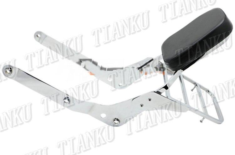 Bereidwillig Motorcycle Chrome Rugleuning Sissy Bar Bagagerek Voor Honda Shadow Vt750 Vt750c Aero 2004-2012