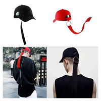 Cool Men S Snapback Hats Hip Hop Long Ribbon Golf Baseball Cap Visor Cotton Trucker Cap