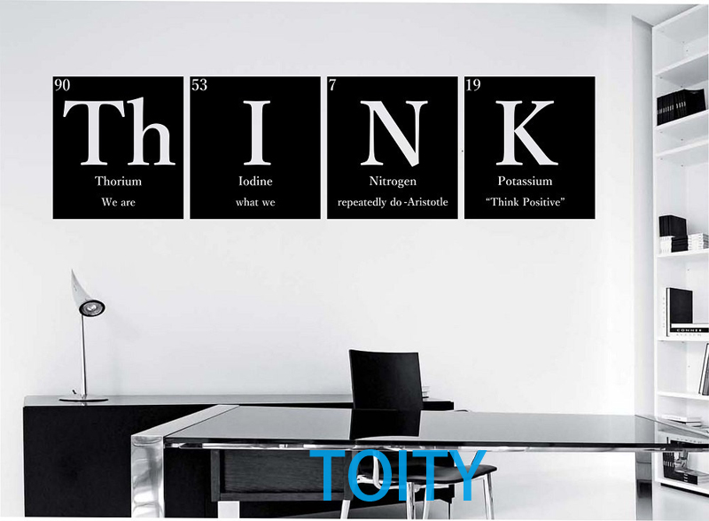 "Larry Wall Science Quotes: THINK""""WITH QUOTE"""" Periodic Table Elements Vinyl Wall"