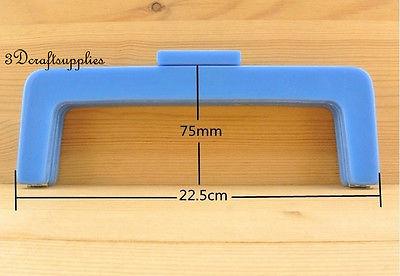 Purse frame 8 1/2 inch x 3 inch ( 22cmx7.5cm ) Acrylic Resin Deep blue M56D